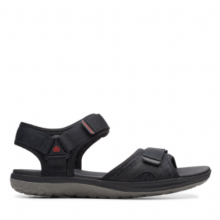 Clarks Mens Step Beat Sun Black Sandals
